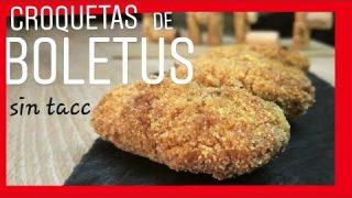 👉 CROQUETAS de BOLETUS sin GLUTEN (snacks gluten free recipe)